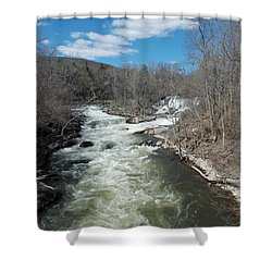Blue Skies Over The Housatonic River Shower Curtain