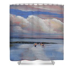 Blue Sky And Clouds I Shower Curtain by Trina Teele