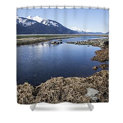 Blue Sky Blue Water Shower Curtain by Michele Cornelius