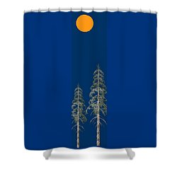 Shower Curtain featuring the painting Blue Sky by David Dehner