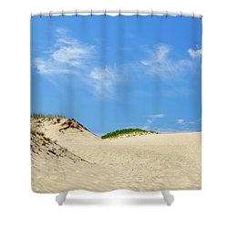 Blue Sky Dunes Shower Curtain