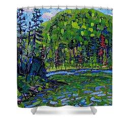 Blue Sky Greens Shower Curtain