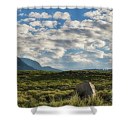 Blue Sky Monmouth  Shower Curtain