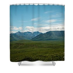 Blue Sky Mountians Shower Curtain