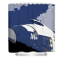 Blue Sky Shuttle Shower Curtain by David Lee Thompson