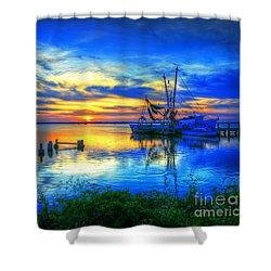 Blue Sky Sunset 2 Shower Curtain