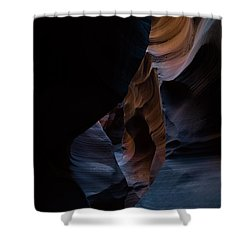 Blue Slots Shower Curtain
