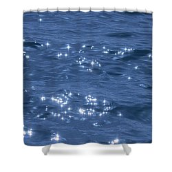Shower Curtain featuring the photograph Blue Sparkling Water by RKAB Works