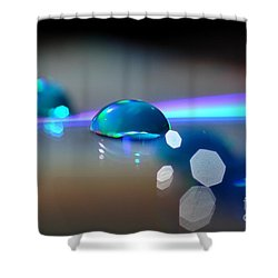 Blue Sparks Shower Curtain by Sylvie Leandre