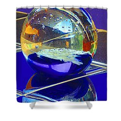 Shower Curtain featuring the digital art Blue Sphere by Jana Russon