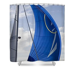 Blue Spinnaker Sy Alexandria Shower Curtain