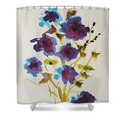 Blue Spring Shower Curtain