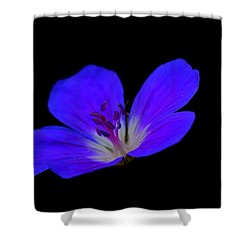 Blue Stamen Shower Curtain
