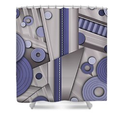 Blue Steel Shower Curtain by Tara Hutton