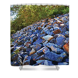 Blue Stone Hill  Shower Curtain