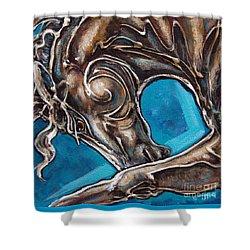 Blue Streak Shower Curtain