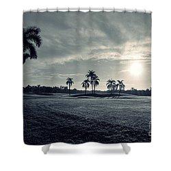 Blue Sunrise Shower Curtain