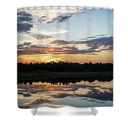 Blue Sunset 2 Shower Curtain