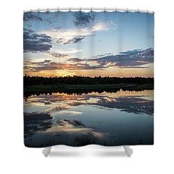 Blue Sunset Shower Curtain