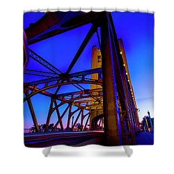 Blue Sunset- Shower Curtain