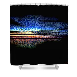 Blue Sunset On The Lake  Shower Curtain