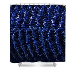 Blue Sweeper Shower Curtain