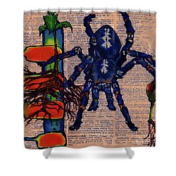 Blue Tarantula Shower Curtain