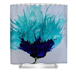 Blue Thistle Shower Curtain