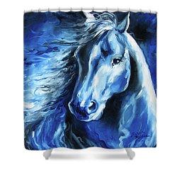 Blue Thunder  Shower Curtain by Marcia Baldwin