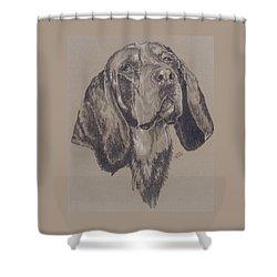 Bluetick Coonhound Shower Curtain