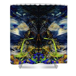 Blue Tigers Devil Shower Curtain