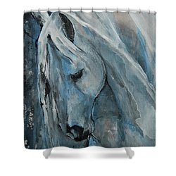 Shower Curtain featuring the painting Tranquility by Jani Freimann