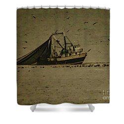 Blue Trawler 2 Shower Curtain