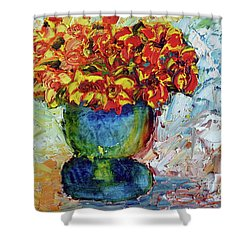 Blue Vase Shower Curtain