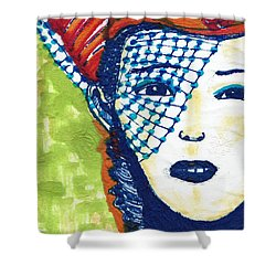 Blue Veil Shower Curtain by Don Koester