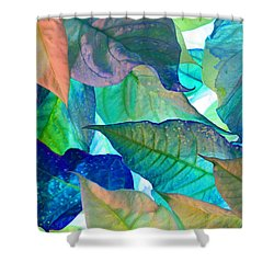 Blue Velvet Shower Curtain by Bobby Villapando