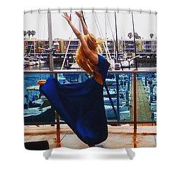 Blue Velvet Rain  Shower Curtain