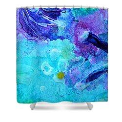 Blue Water Flower Shower Curtain