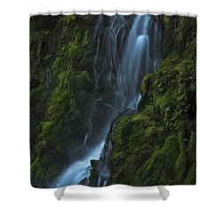 Shower Curtain featuring the photograph Blue Waterfall by Yulia Kazansky