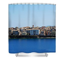 Blue Waters Of Corfu Shower Curtain