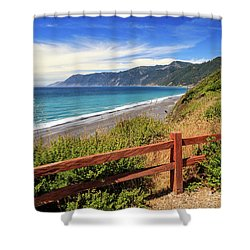 Shower Curtain featuring the photograph Blue Waters Of The Lost Coast by James Eddy