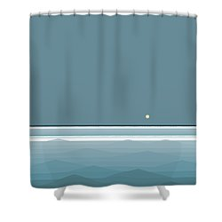 Blue Waves - Square Shower Curtain