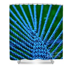 Shower Curtain featuring the photograph Blue Weave by Xn Tyler
