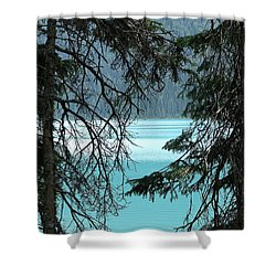 Blue Whisper Shower Curtain