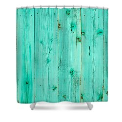 Shower Curtain featuring the photograph Blue Wooden Planks by John Williams