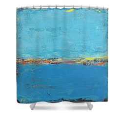 Blue World Shower Curtain