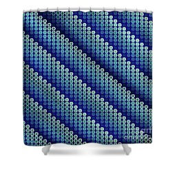 Blue Zag Shower Curtain
