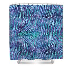 Blue Zebra Print Shower Curtain