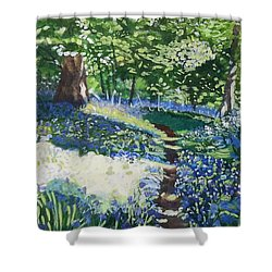Bluebell Forest Shower Curtain
