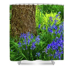 Shower Curtain featuring the photograph Bluebells Of Springtime  by Connie Handscomb